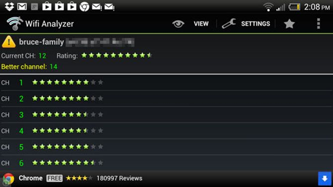 Wifi Analyzer Android Channel Ratings