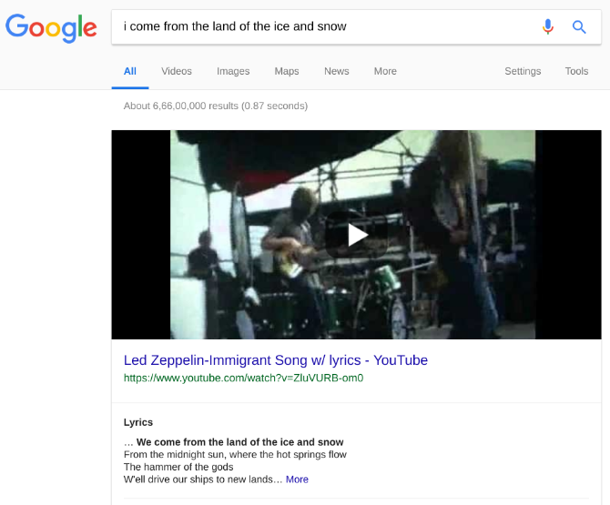 youtube search lyrics