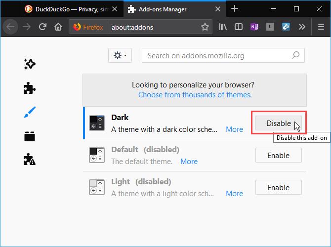 So aktivieren Sie den dunklen Modus in Firefox, Chrome