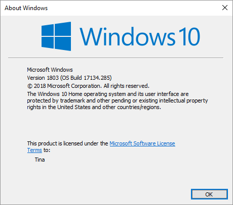 How to quickly find out which Windows version and edition you're on.