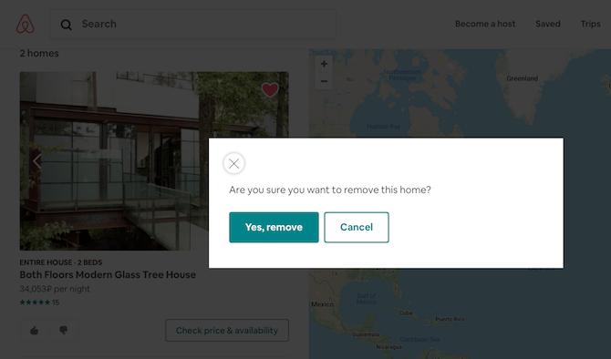 Haken mit Airbnb-Host