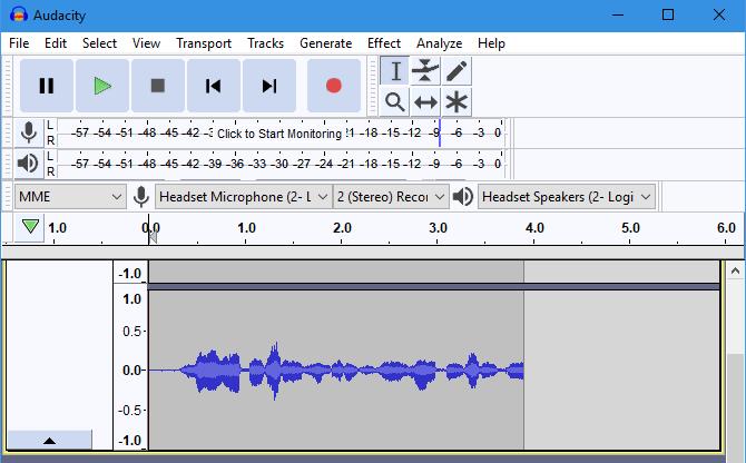 Audacity Sample Recording