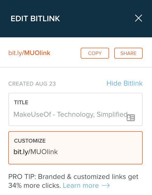 Bitly-Custom-Link