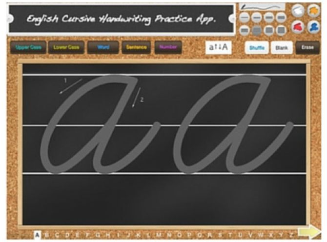 534cdaacda8 ... cursive writing on the go. The handwriting lessons take you through  uppercase, lowercase, individual words, cursive practice sentences, and  numbers.