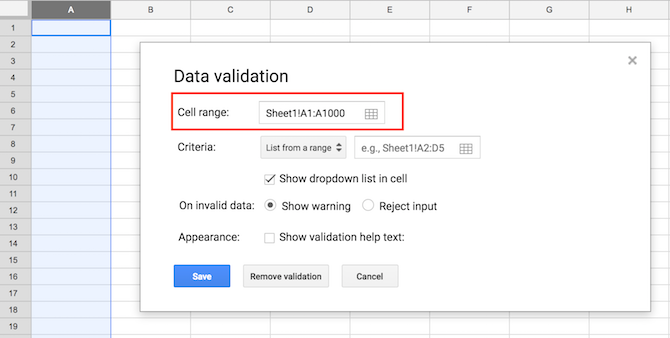 How to Create a Dropdown List in Google Sheets Google Sheets Drop Down Menu 1