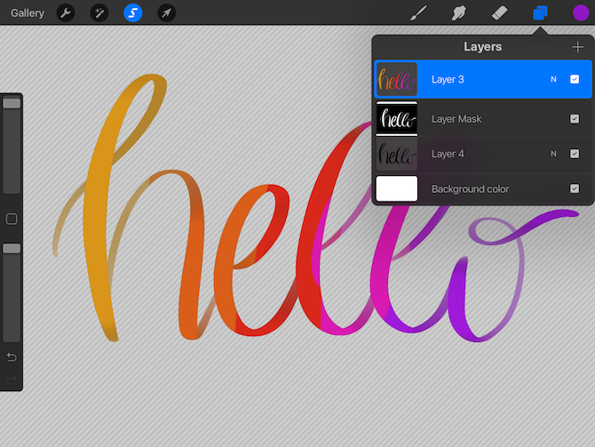 How to Fill Calligraphy Text With Color, Textures, or Photos