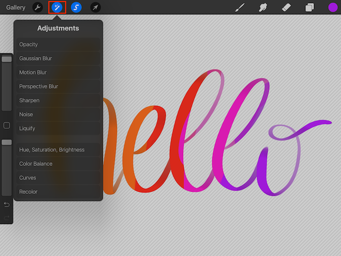 how to fill calligraphy text with color textures or photos in