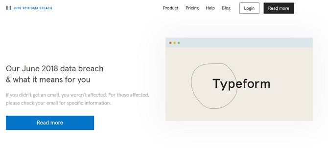Typeform experienced a data breach in 2018