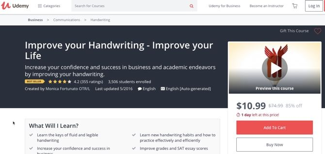 Learn to write beautiful cursive handwriting