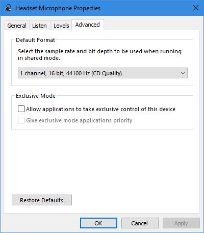 如何修复Windows10中的麦克风问题