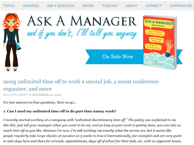 Ask A Manager gives advice on how to deal with annoying coworkers