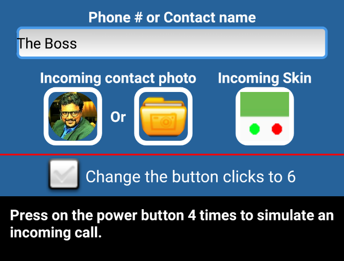 Fake a phone call on Android with GogoCall