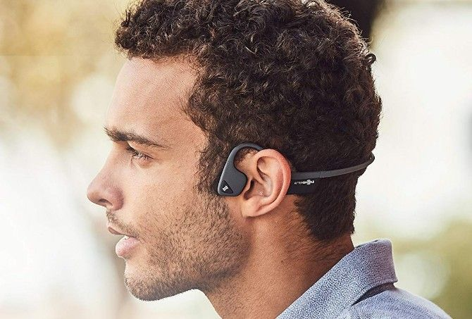 Aftershokz Trekz Air are bone conduction wireless headphones for safer running, jogging, or cycling