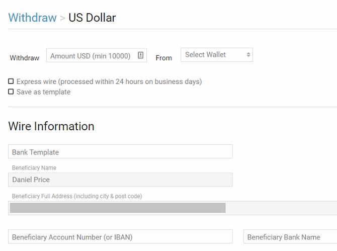 binfinex minimum withdrawal 10000