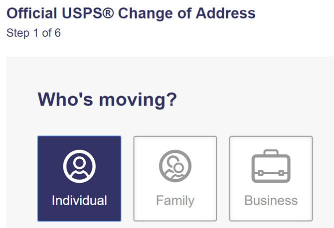 Change address when you move?