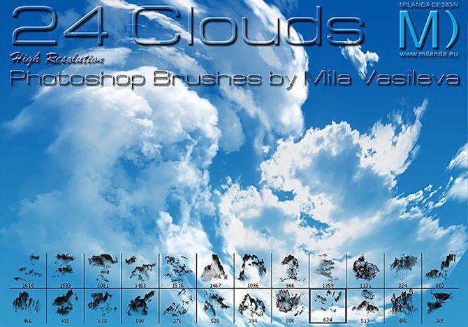 gimp brushes clouds