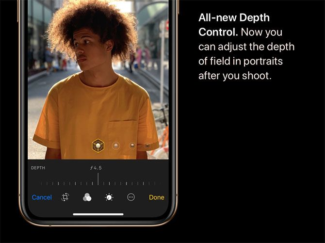 Depth Control iPhone Xs