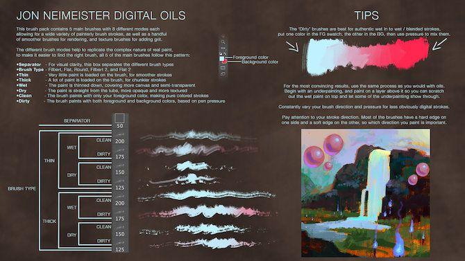 gimp digital oil brush