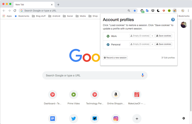 Easy Account Switcher Google Chrome Extension