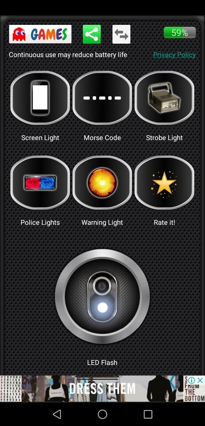 flashlight app for android mobile
