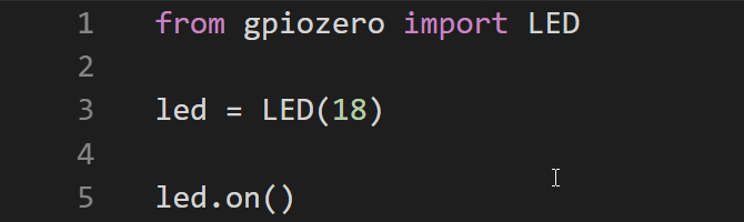 Setting up an LED with GPIO Zero