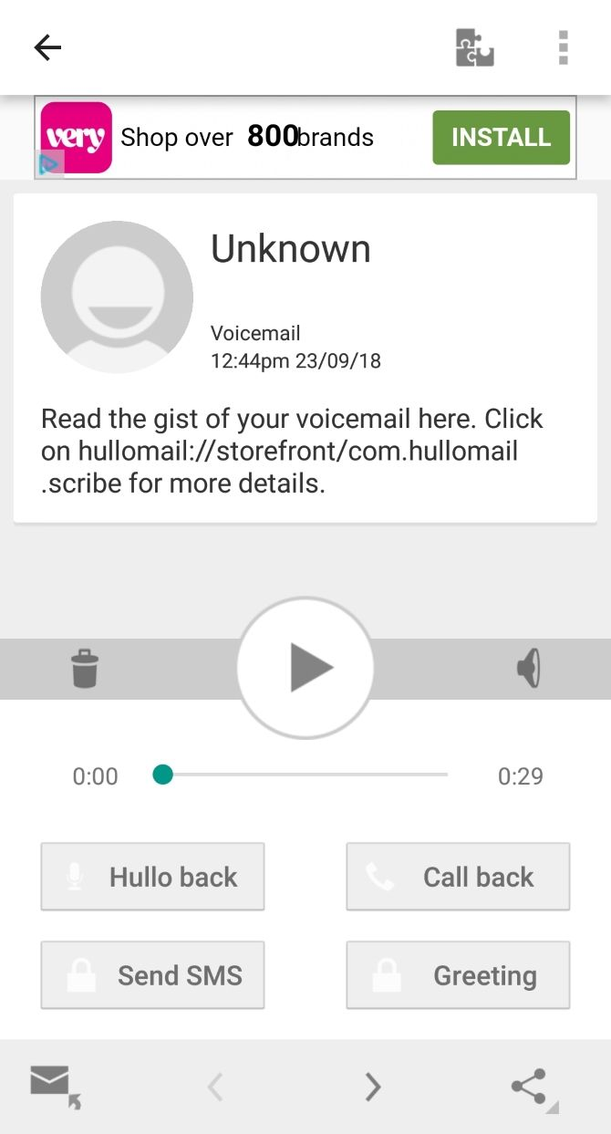 free visual voicemail app for android