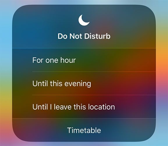 iOS 12 Do Not Disturb