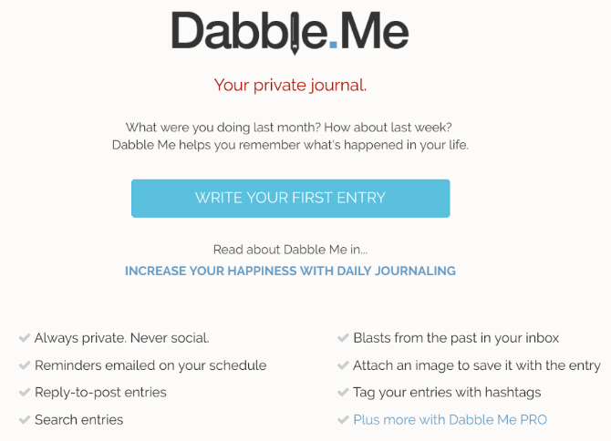 An email-based journaling app.