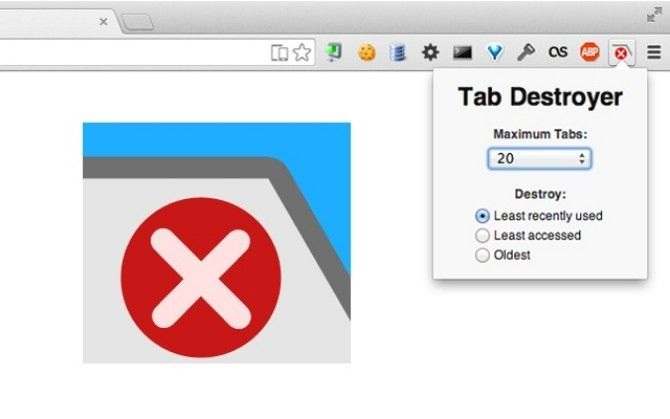xTab limits the maximum number of tabs Chrome can open