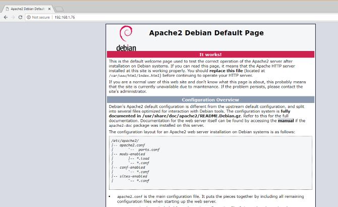 Apache server installed on Raspberry Pi
