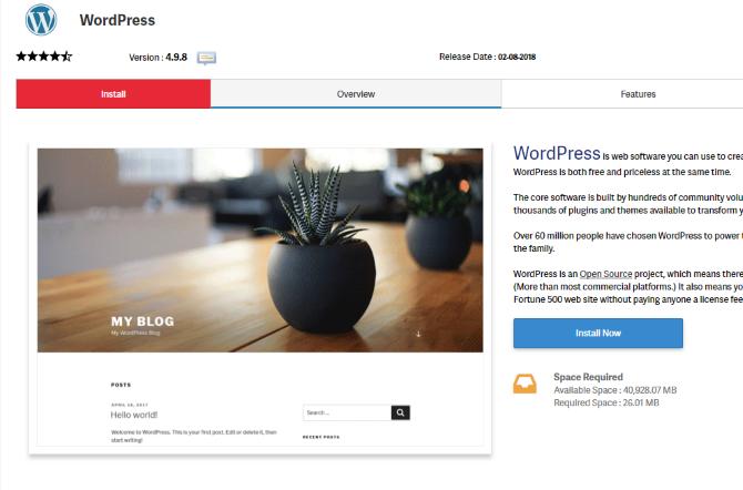 Install WordPress on InMotion Hosting