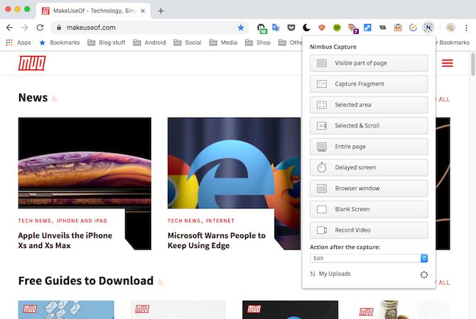 Nimbus Google Chrome Demo