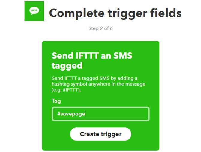 Das Senden einer SMS-Nachricht kann eine Webseite auf Google Drive