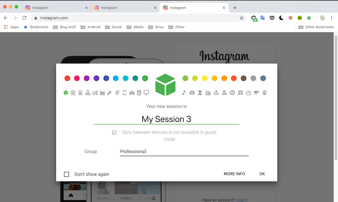 SessionBox Google Chrome Extension