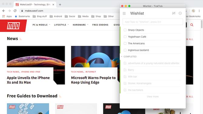 TickTick Google Chrome Demo