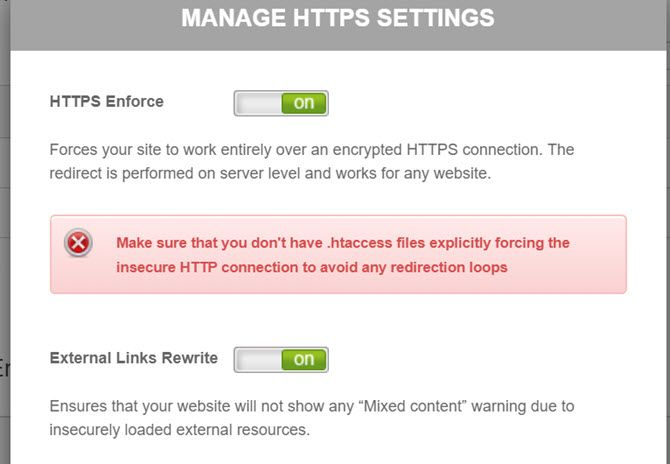 manage https settings