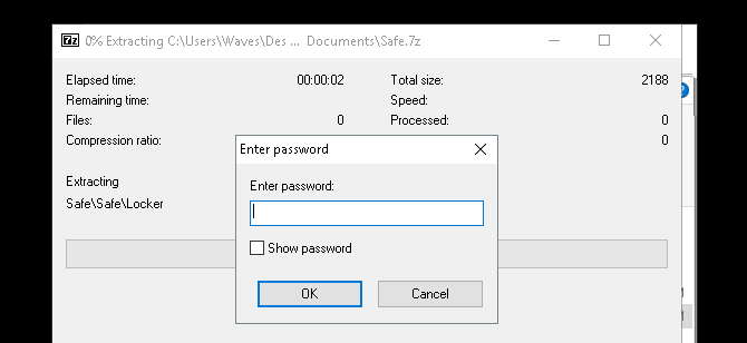 How to Password Protect a Folder in Windows zip file password enter