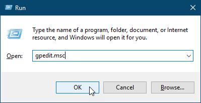 Откройте редактор локальной групповой политики в Windows 10