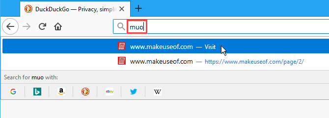 Use a keyword to visit a bookmarked site in Firefox