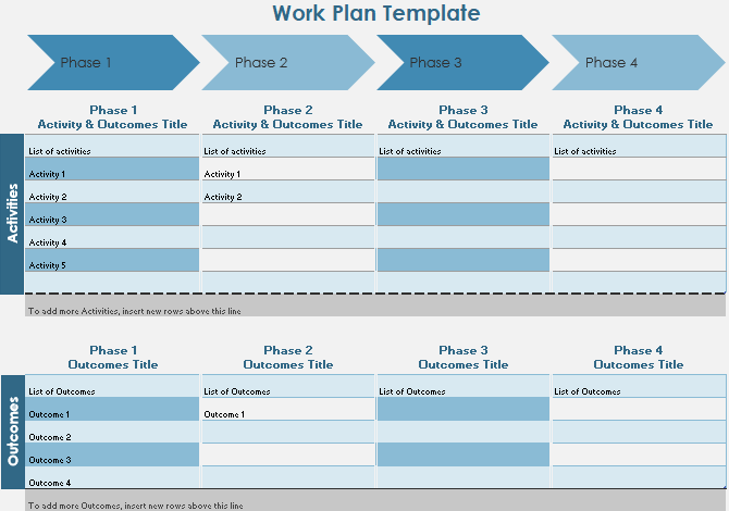 Excel Work Plan Timeline Template
