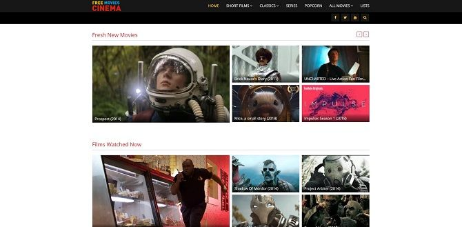 I migliori siti di streaming video gratuiti Cinema online gratuito