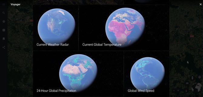 Global Weather Map on Google Earth