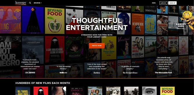 Best Free Movie Streaming Websites - Kanopy