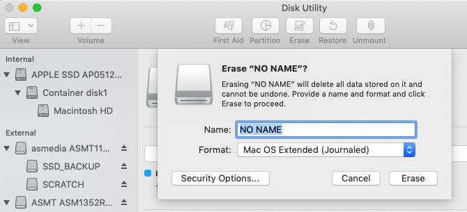 How to erase a flash drive from Disk Utility on a Mac
