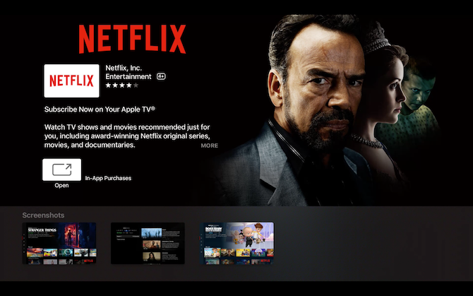 Netflix Apple TV Details Page