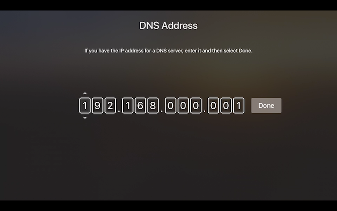 Netflix Apple TV Enter DNS