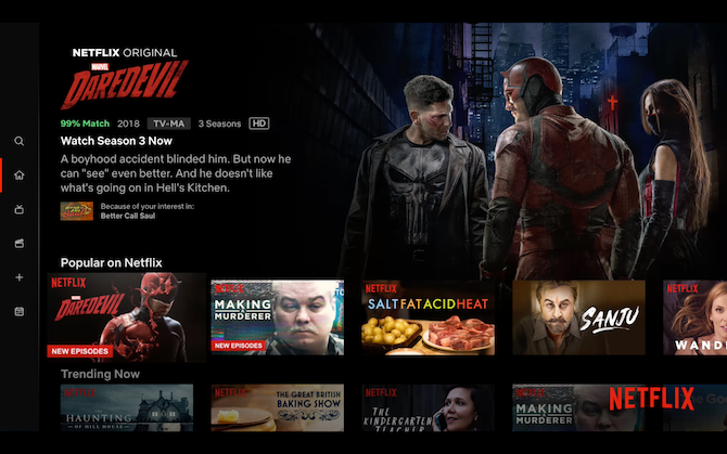 Netflix Apple TV Home Screen