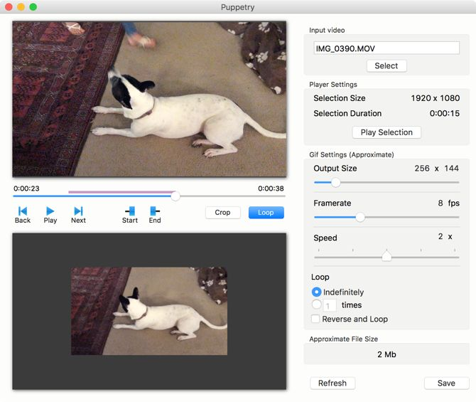 Puppetry Gif Maker for Mac