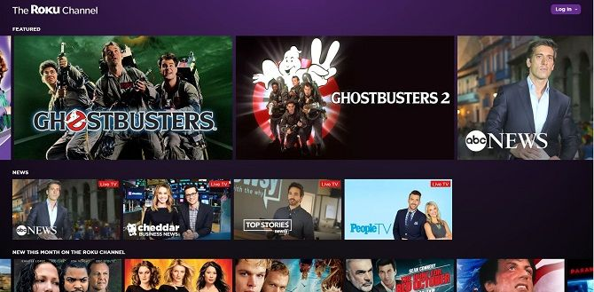 Best Free Movie Streaming Websites - The Roku Channel