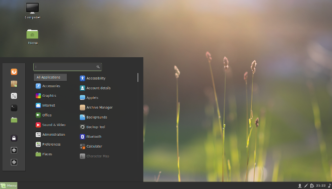The Cinnamon desktop environment